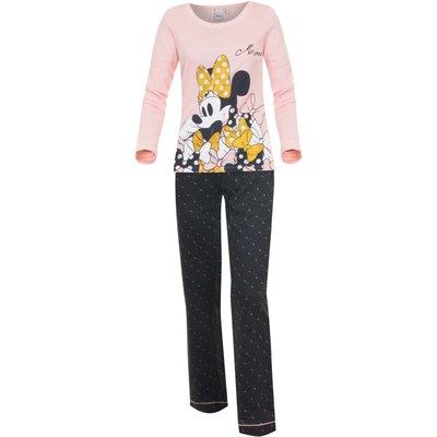 Disney pyjama Minnie Mouse voor volwassenen, roze/zwart