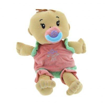 Pluche babypop met speen, 35 cm.