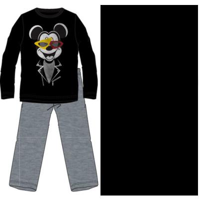 Disney heren-pyjama Mickey Mouse Cool, grijs/zwart