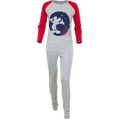 Disney Mickey Mouse pyjama / huispak voor volwassenen rood/grijs