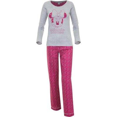Disney Minnie Mouse pyjama voor volwassenen, grijs/roze