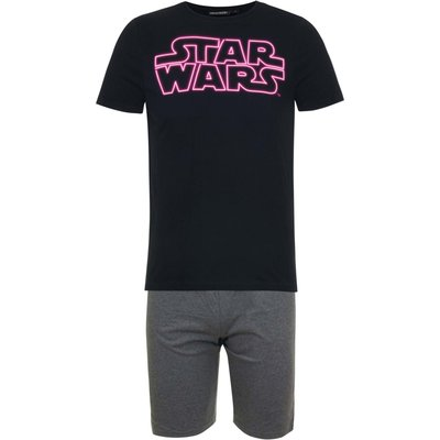 Star Wars heren shortama, volwassenen, zwart, div. maten