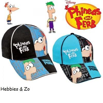 Phineas & Ferb cap zwart mt 52