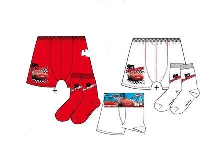 Cars wit setje boxershort / sokken 6-8 jaar
