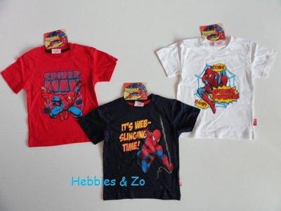 Spiderman t-shirt wit, maat 116