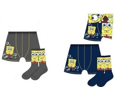 Spongebob setje taupe boxershort / sokken 10-12 jaar