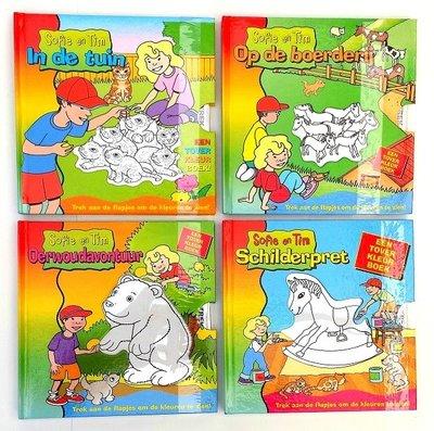 Set van 4 verschillende Sofie en Tim boekjes