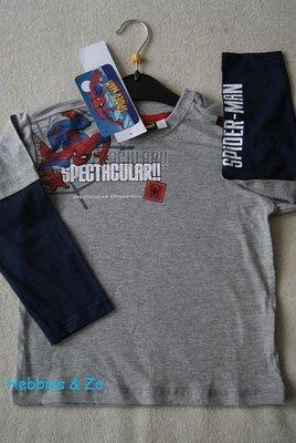 Spiderman longsleeve grijs maat 104