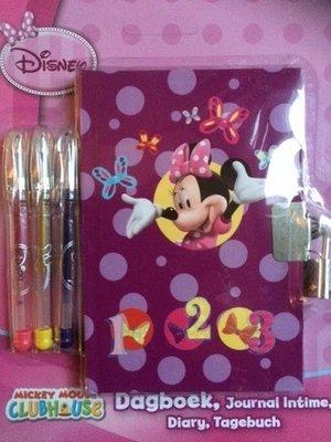 Disney's Minnie Mouse dagboekje met 3 gelpennen