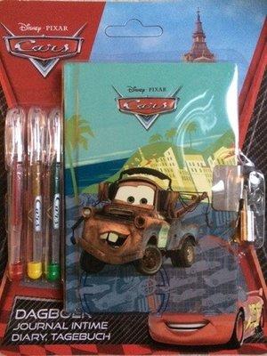 Disney's Cars dagboekje met 3 gelpennen