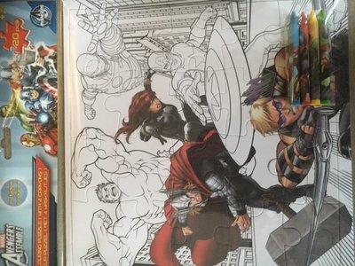 Marvel Avengers kleurpuzzel 20-delig met 4 waskrijtjes