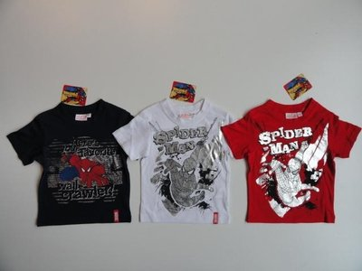 Spiderman t-shirt wit / zilver maat 98