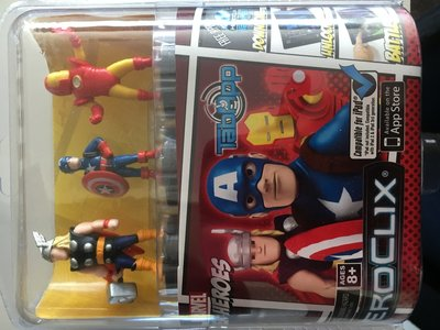 TabApp Heroclix Marvel Heroes met o.a. Iron Man en Mr. America