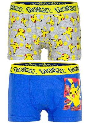 Pokemon ondergoedsetjes bestaande uit 2 boxershorts, maat 10-12