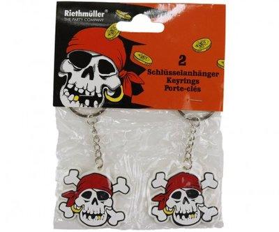 Set van 2 piraten sleutelhangers