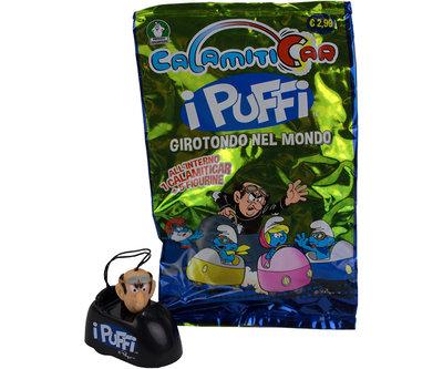 Smurfen verrassingszakje / giftbag  met Pull back voertuigje