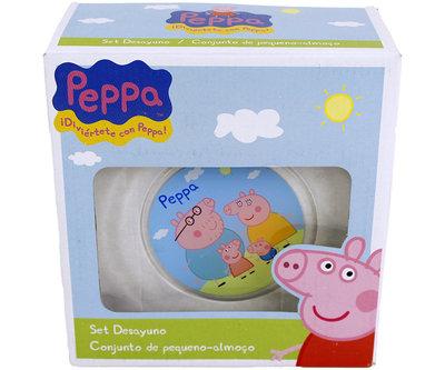 Peppa Pig 3-delige glazen ontbijtset