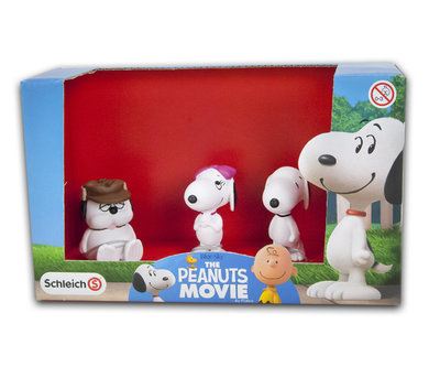 Snoopy speelfiguren set 3-delig The Peanuts Movie