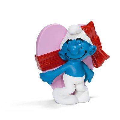 Smurfen figuurtje met hart / valentijn / liefde / love