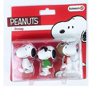 Snoopy speelfiguren set 3-delig