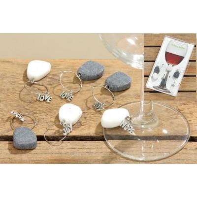 Set van 6 wijnglashangers