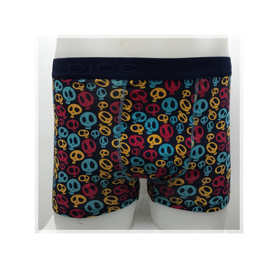 DICE Heren boxershort Coloured Skulls, div. maten