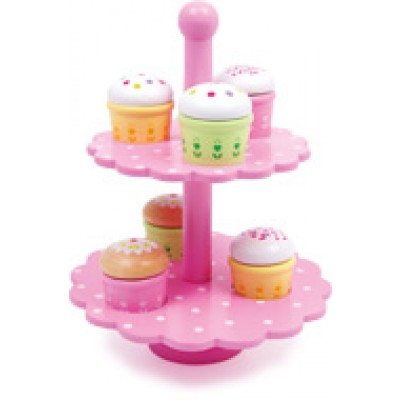 Muffins etagere met 6 muffins