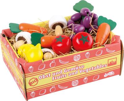 Groentenkistje met houten groenten