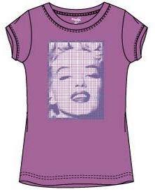 Marilyn Monroe shirt roze