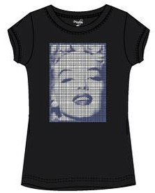 Marilyn Monroe shirt, zwart