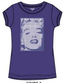 Marilyn Monroe shirt paars