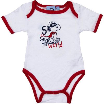 Snoopy babyrompertje wit/rood korte mouw