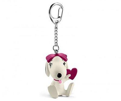 Snoopy sleutelhanger Belle met hart