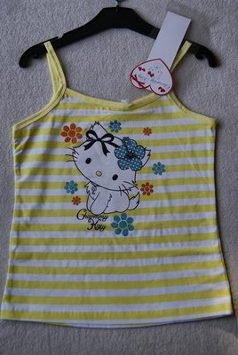 Hello Kitty spaghetti shirt geel