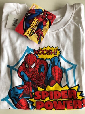Spiderman t-shirt wit, maat 128