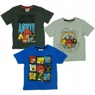 Angry Birds shirt donkergrijs maat 116 of 140