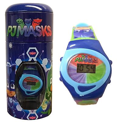 PJMasks digitaal horloge in blik