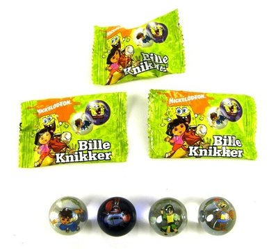 Giftbag met knikker / bonk Spongebob of Dora !