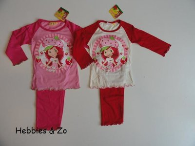 Strawberry Shortcake pyjama roze maat 94