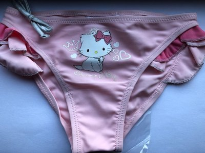 Hello Kitty zwembroekje roze/wit