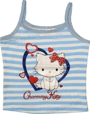 Hello Kitty spaghetti shirt blauw