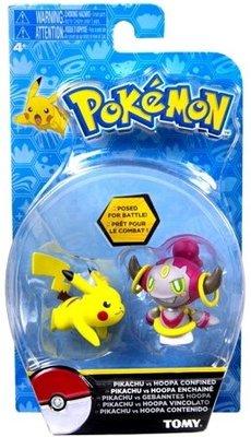 Pokemon battle speelfiguren Pikachu vs Hoopa