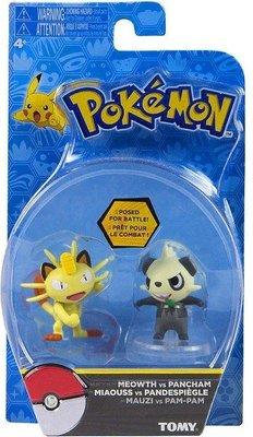 Pokemon battle figuurtjes Meowth vs Pancham