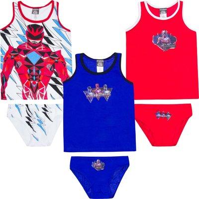 Power Rangers ondergoedsetjes, 3 stuks, maat 4/5 jaar