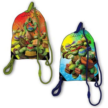 Teenage Mutant Ninja turtles gymtas blauw / groen.