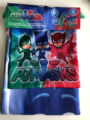 PJ Masks combi set, bestaande uit badlaken en gymtas