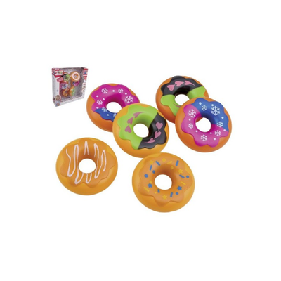 Set van 6 donuts in vensterverpakking