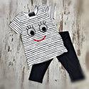 DICE-Kinderpyjama-zomersetje-Smile-blauw-wit-maat-104-110