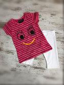 DICE-Kinderpyjama-zomersetje-Smile-fuchsia-wit