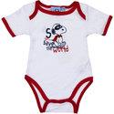 Snoopy-babyrompertje-wit-rood-korte-mouw
